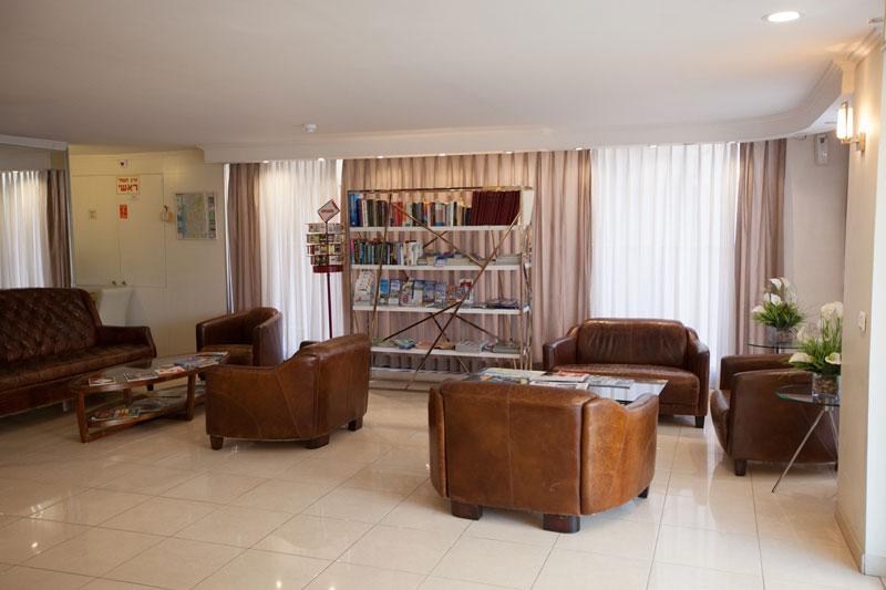 Lobby avec zone de lecture